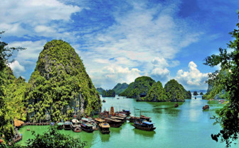 Halong Bay in the Sunlight