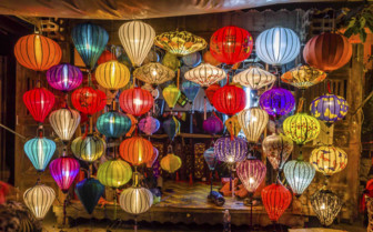 Lanterns hanging in Hoi An