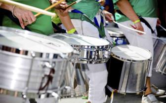 Drummers in Green Uniform