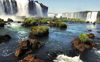 Waterfall over rocks