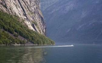 Speedboat on the Fjords