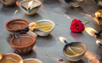 Candles in Sri Veera Makalimman Temple - Asia