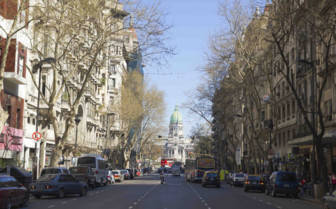May Avenue in Buenos Aires