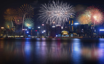 Fireworks in the Harbour - Hong Kong