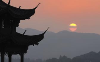 Hangzhou Temple Silhouette