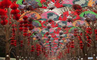 Fans and Lanterns for Chinese New Year