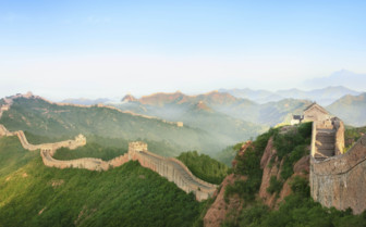 The Great Wall Stretching over the Hills