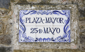 Plaza Major Sign