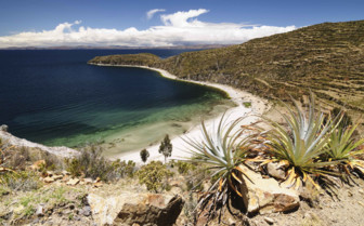 Bay on Lake Titicaca