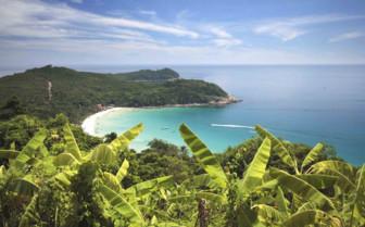 View from Banana Plantation to the Sea
