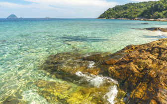 Shallow Waters off a Malaysian Island