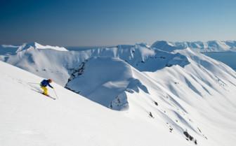 Skiing near Deplar Farm