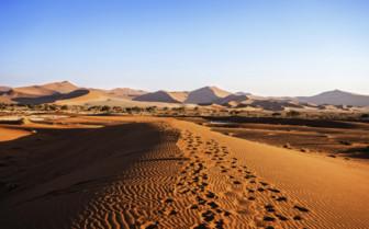 Namib desert in Africa