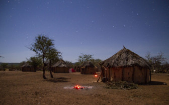 Namibian village at night