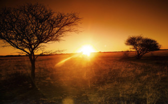Sunset skies in Namibia