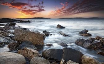 Sunset over Skeleton Coast