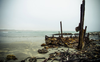 Shipwreck remains at Skeleton Coast