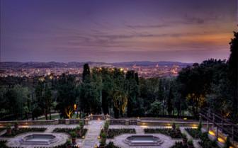 Gardens of II Salviatino Hotel at night