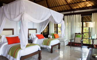 Twin room at Fregate Island, Seychelles