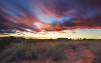 Namib desert sunset