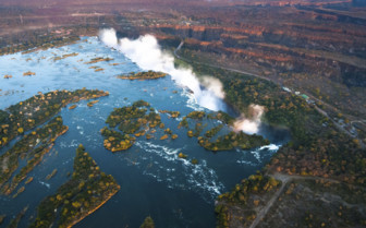 Aerial view of the Falls