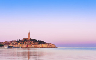 Pink skies over Istria