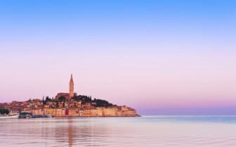Pink skies over Istria