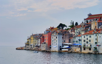 Colourful houses in Istria