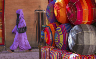 Colourful fez in Marrakech