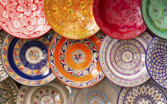 Marrakech colourful plates