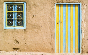 Traditional painted house in the Southern Desert