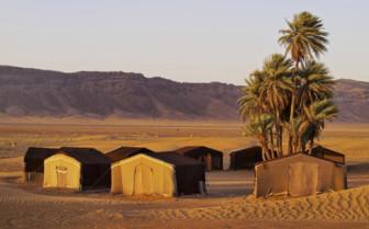 Circle of houses in Zagora, Morocco