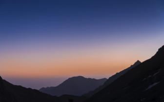 Sunset over the High Atlas mountains