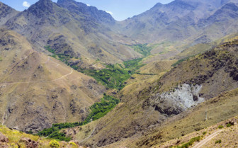 Valley in the Atlas mountains