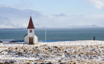 Hellnar church on Snaefellsnes Peninsula