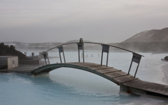 Bridge at the Blue Lagoon spa