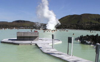Walkway in the Blue Lagoon