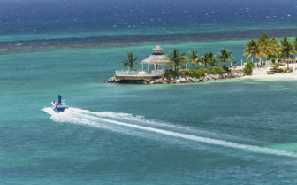 Ochos Rios Bay and speed boat