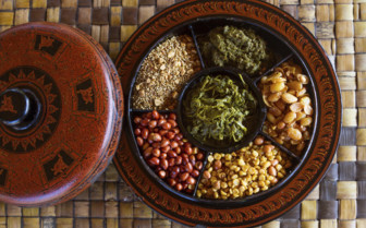 Burmese food close up