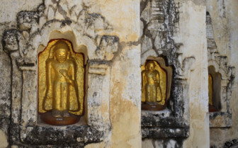 Buddha niches detail