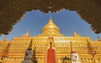 Shwezigon pagoda in Burma