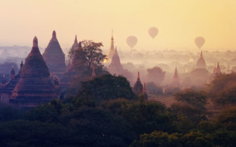Balloons and Pagodas in Burma