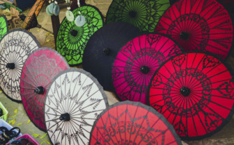 Traditional Burmese umbrellas