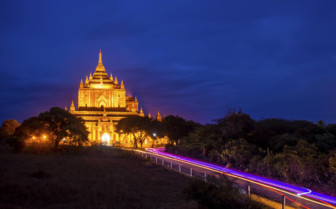 Pagoda in Bagan at night