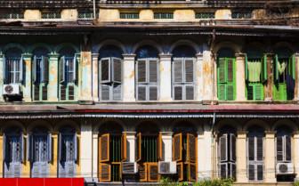 European style windows in Yangon