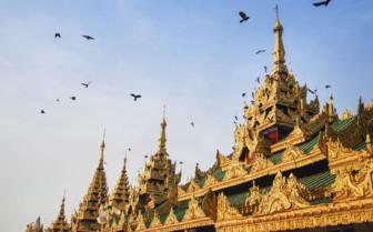 Pagoda roof in Yangon