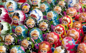 Colourful Russian dolls