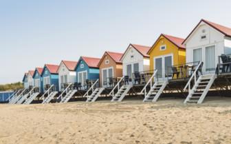 Houses in coastal Netherlands