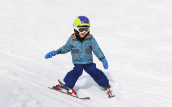 Child skiing in Austria