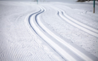 Cross Country Ski Tracks in Engadin